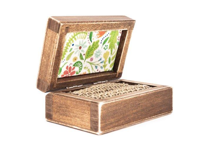 Dřevěné krabička na prstýnky