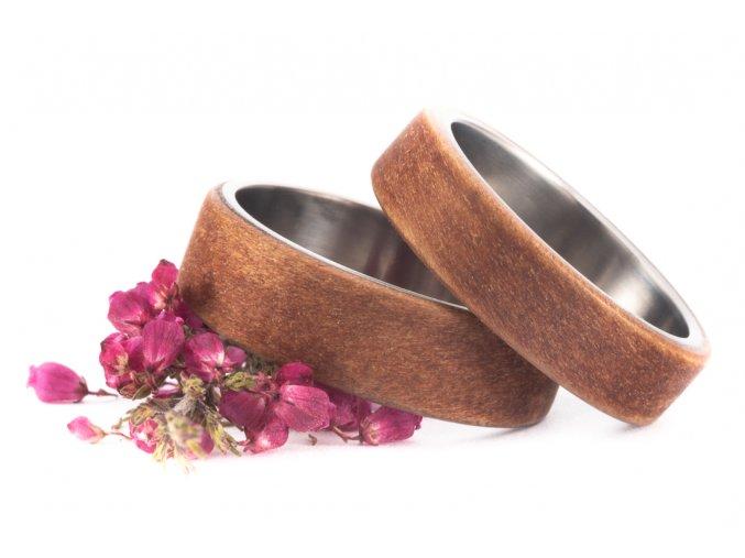 Snubní prstýnky Titanium Z-Bolivian Walnut All