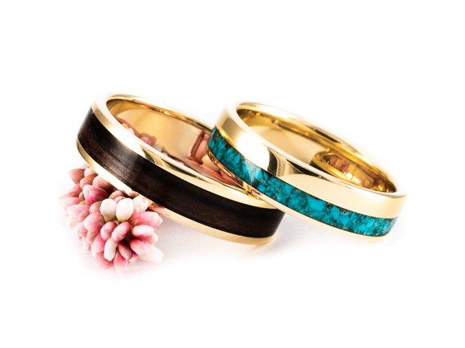 Netradiční zlaté prstýnky