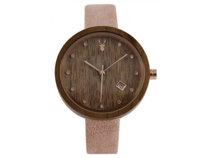 Dámské dřevěné hodinky ořech