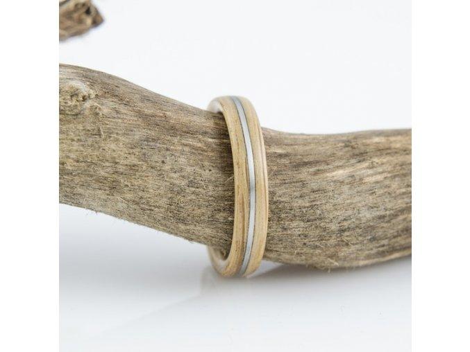 Dřevěný prstýnek OAK & STEEL
