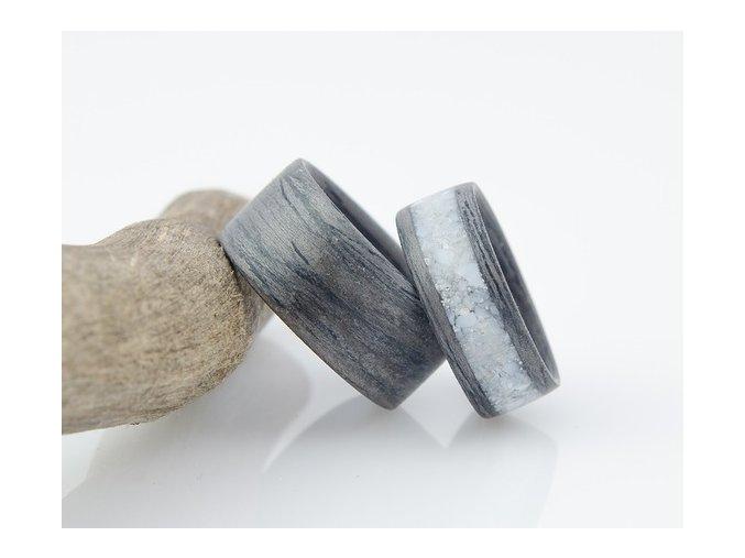 Jedinečné dřevěné prstýnky