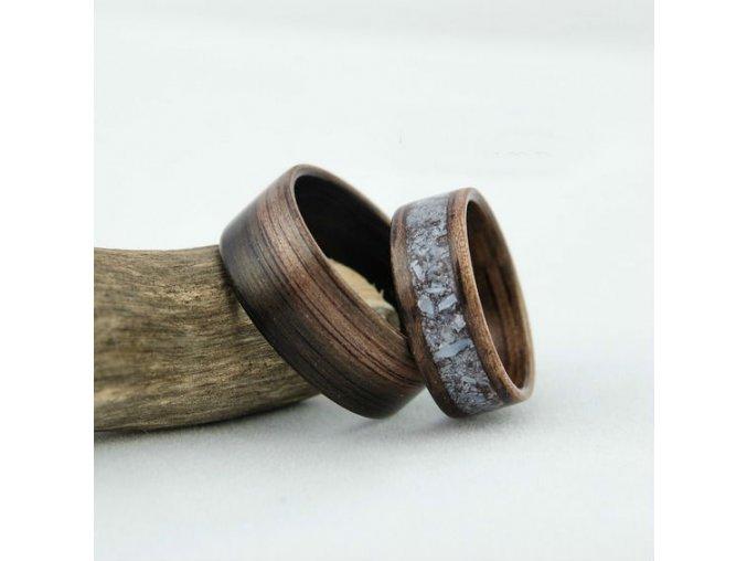 Luxusní dřevěné prstýnky