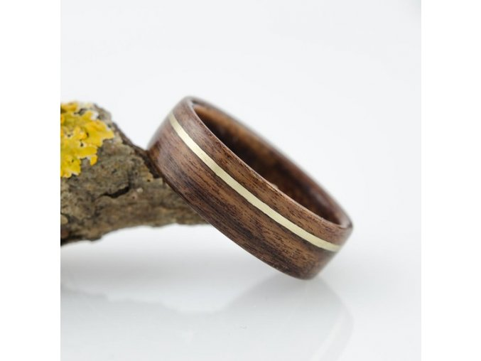 Dřevěný prstýnek ROSEWOOD & BRAAS