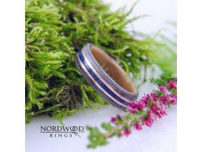Luxusní prstýnek s azuritem
