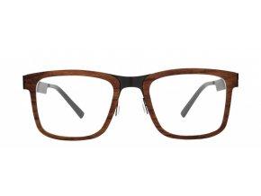 Brýle ocel a dřevo