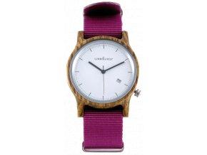 Dřevěné hodinky PINK