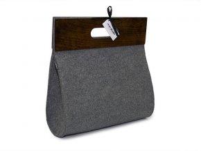Plstěná kabelka se dřevem