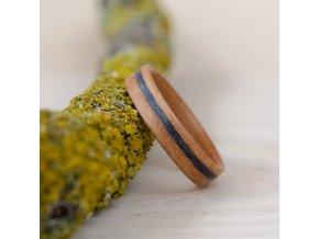 Dřevěný prstýnek CHERRY AND GREY OAK
