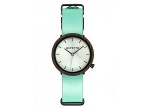 Stylové dřevěné hodinky matové