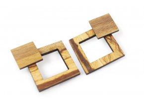 Dřevěné náušnice