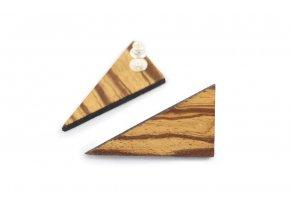 Náušnice trojúhelník ze dřeva