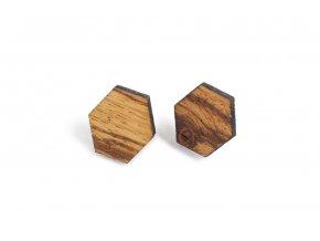dřevěný hexagon