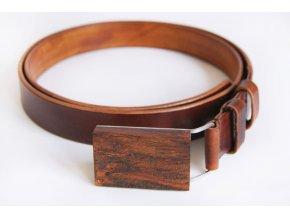 Kožený pásek k obleku