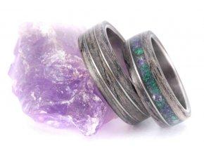 Snubní prstýnky Z-Grey Oak Malachit Ametyst