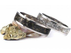 Snubní prstýnky Z-Howlite Pear Chalkopirit Stainless Steel