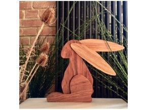 drewniany zajac wielkanocnyn