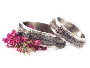 Snubní prstýnky Titanium Z-Grey Oak