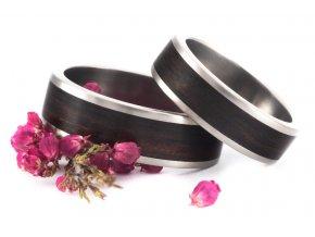 Snubní prstýnky Titanium Z-Ebony Macassar