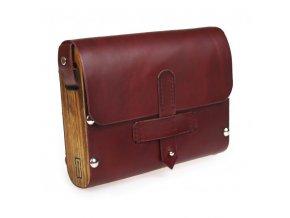Malá dřevěná kabelka bordo