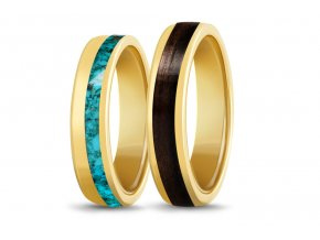 Zlaté prstýnky se dřevem