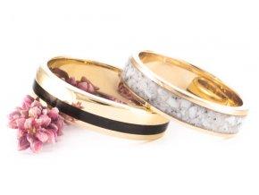 Zlaté snubní prstýnky Z-Gold Howlite Eben Macassar