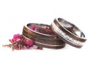 Snubní prstýnky Z-Ebony Howlit vel.72 a 60 VÝPRODEJ