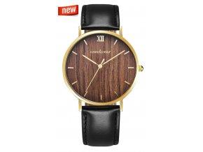 3022 drewniany zegarek fusion black