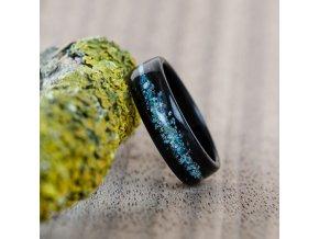 Dřevěný prstýnek EBONY GALAXY