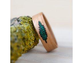 Dřevěný prstýnek FERN