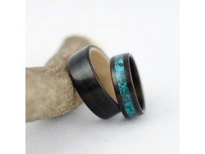 Snubní prsteny ze dřeva tmavé