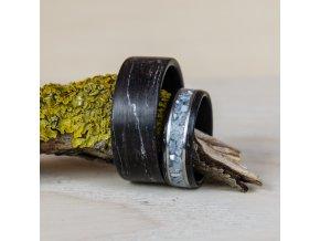 Dřevěné prstýnky z černého dubu