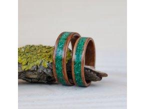 Zelené snubní pstýnky