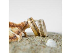 Snubní prstýnky ZEBRANO & WHITE OAK & SAND
