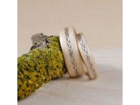 Dřevěný prstýnek Birch