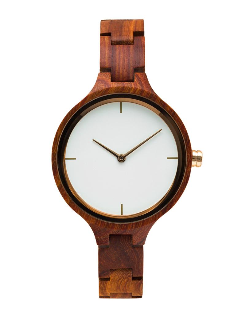 Weargepetto Dámské hodinky ze dřeva DAYBREAK R1 7b10bdc30b