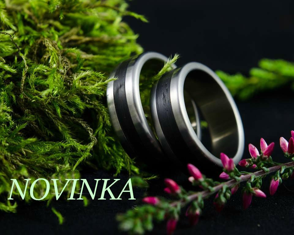 Nordwood Rings Snubní prstýnky TITAN & BOG OAK TT5