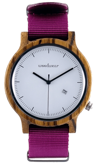 Woodwear Pánské hodinky dřevěné SPECTRO - Pink WW49