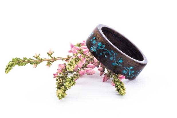 Zaczyk Wood Rings Dřevěný prstýnek Z-Vision Ebony Macassar