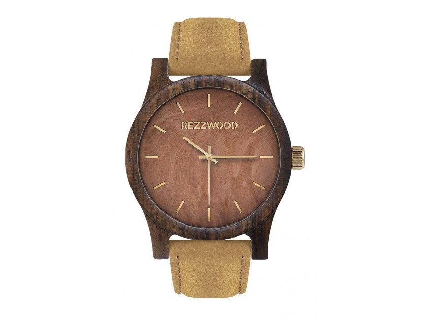 Rezzwood Dřevěné hodinky Classic Amazaque/Mahagon