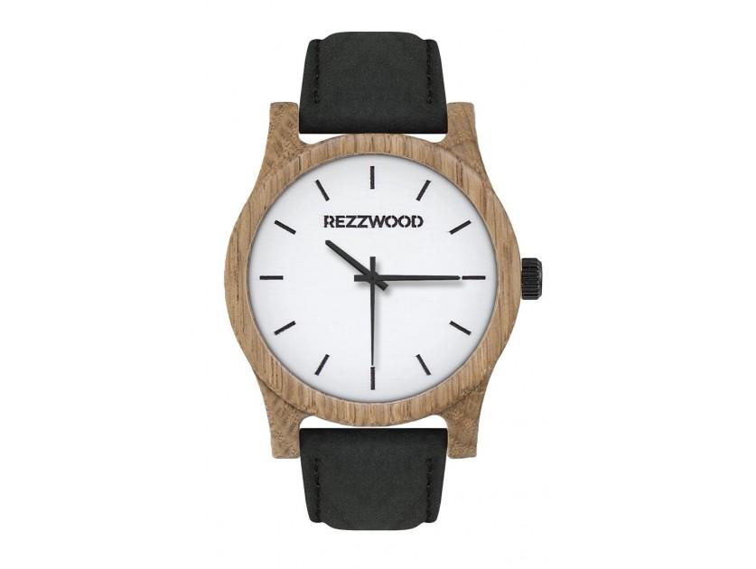 Rezzwood Dřevěné hodinky Classic Oak/Jílm