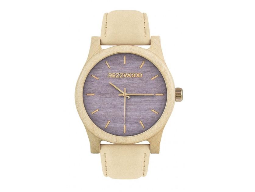 Rezzwood Dřevěné hodinky Classic Maple/Liliovník