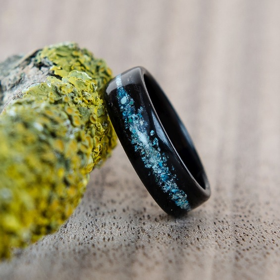 Nordwoodrings Dřevěný prsten Ebony Galaxy NWR256272