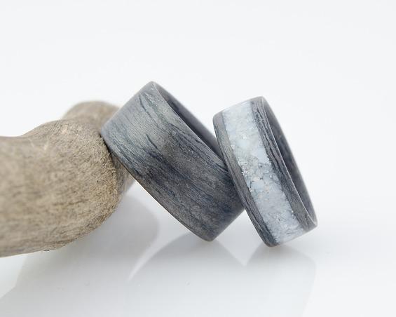 Nordwood Rings Snubní prstýnky GREY OAK & MOTHER OF PEARL NWR270640 Gravírování: ANO