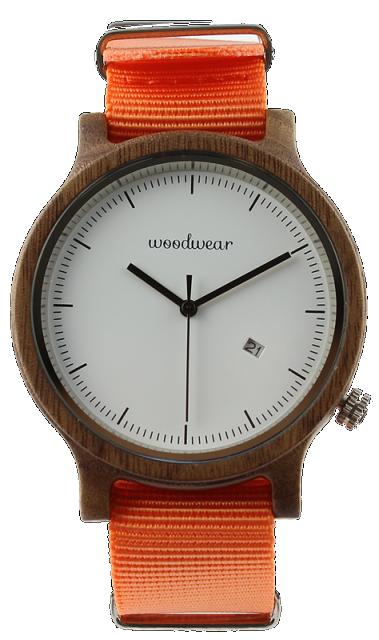 Woodwear Pánské hodinky dřevěné SPECTRO - Orange WW37
