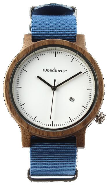 Woodwear Pánské hodinky dřevěné SPECTRO - Blue WW38
