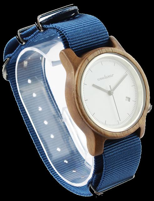 Woodwear Dámské hodinky dřevěné SPECTRO - Blue WW39