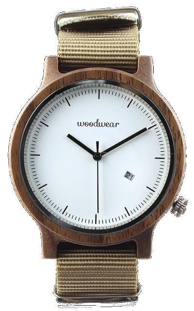 Woodwear Pánské hodinky dřevěné SPECTRO - Beige WW40