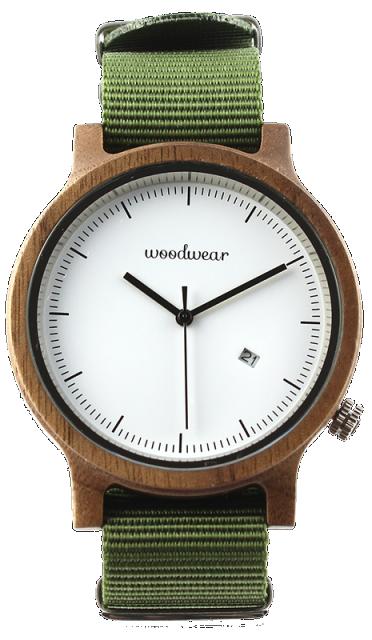 Woodwear Pánské hodinky dřevěné SPECTRO - Khaki WW42