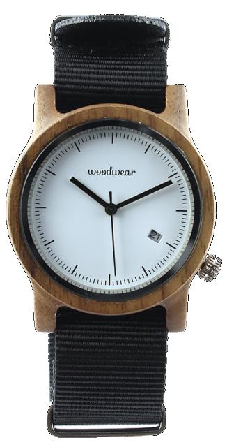 Woodwear Dámské hodinky dřevěné SPECTRO - Black WW45